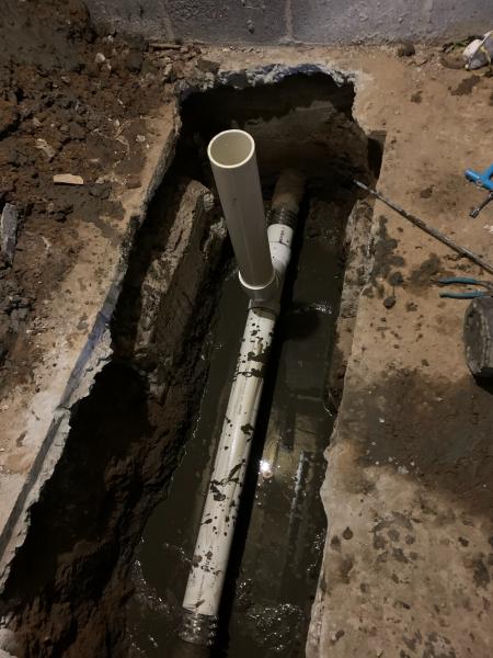 Sewer main repair (After)