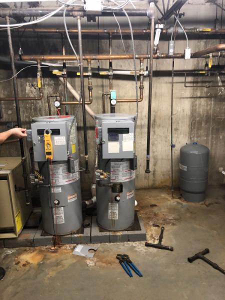Boiler installation (Before)
