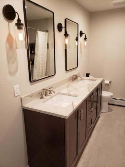 Finished bathroom by Zeek Plumbing