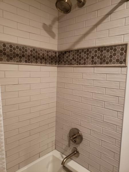 Finished shower by Zeek Plumbing
