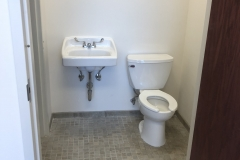 finished sink & toilet in commercial space