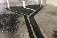 underground piping completed