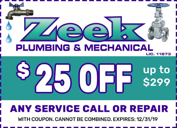 zeek plumbing coupon NJ