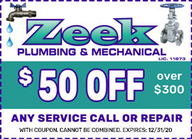 Zeek plumbing coupon water heaters NJ