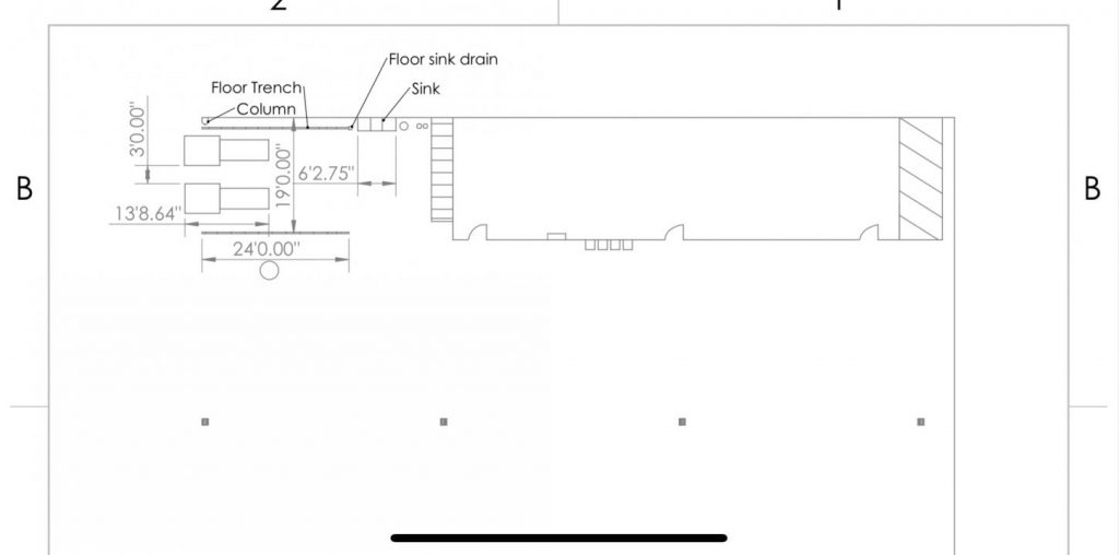 blueprint for trench drain